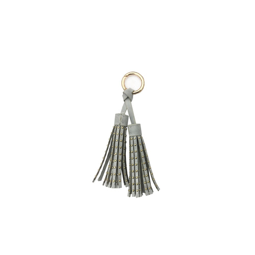 Studded Double Tassel Bag Charm
