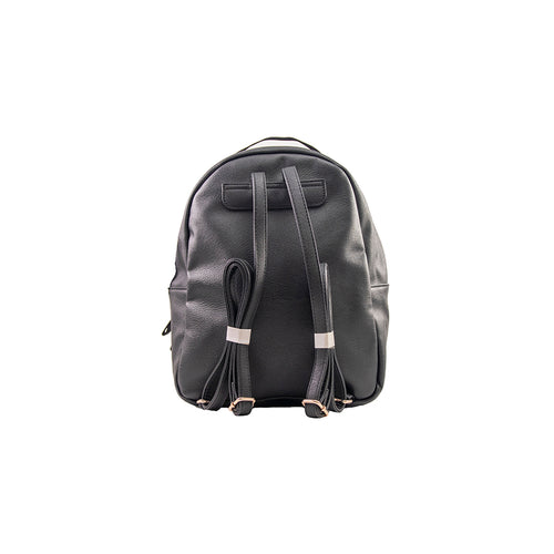 Black Tweed Pocket Midi Backpack