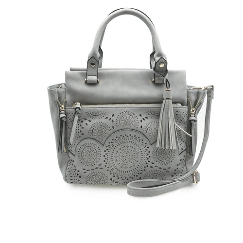 Amber Perforated Satchel