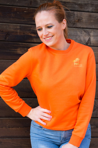 Golden island - Orange sweater - Les Canailles