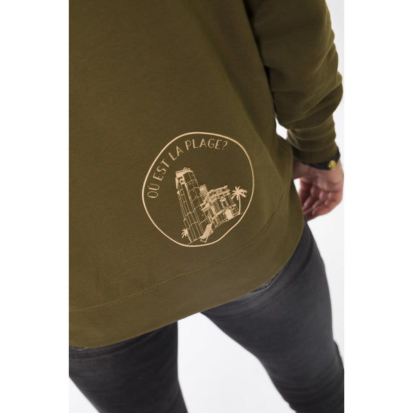 Reach for your hoodie - combat kaki - Les Canailles