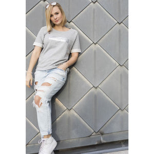 Snobby Silver - short sleeve sweater
