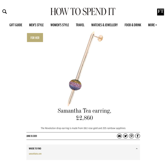 FEATURED IN HOW TO SPEND IT GIFT GUIDE