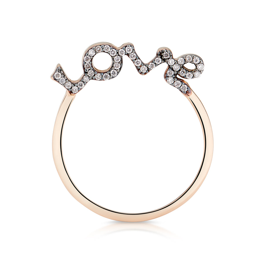 ALL IN LOVE! RING WHITE & COGNAC DIAMONDS
