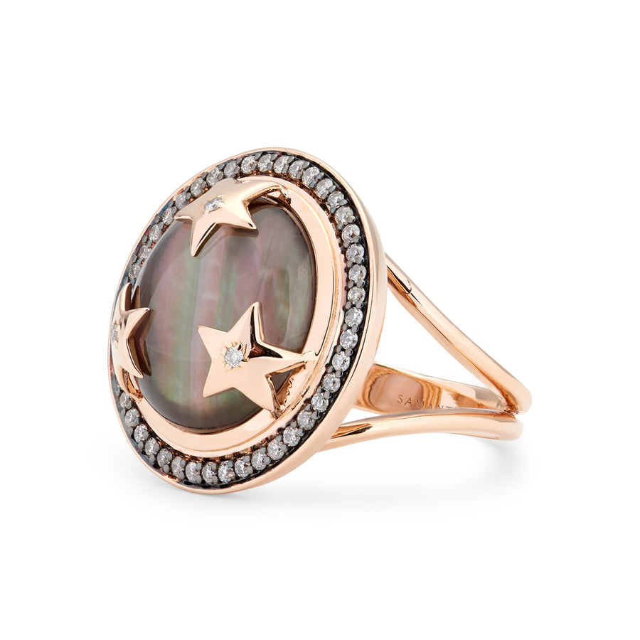 ASTRID RING BLACK MOTHER OF PEARL