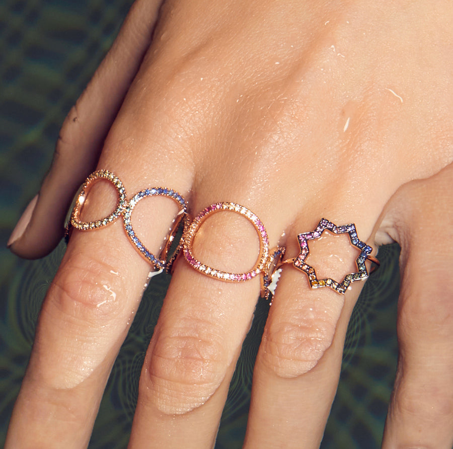AYA RING RAINBOW SAPPHIRES