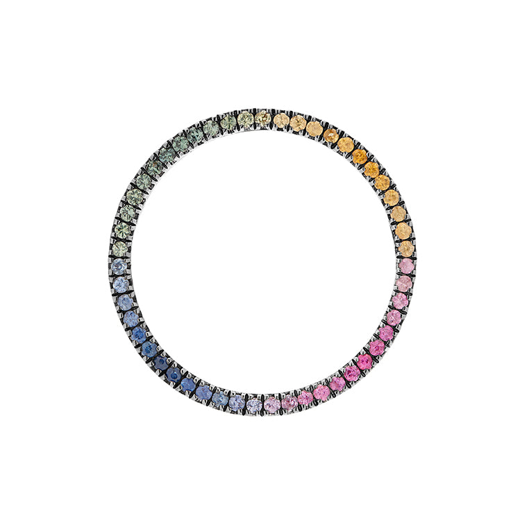 MAGIC CIRCLE 22 EARRING RAINBOW SAPPHIRES