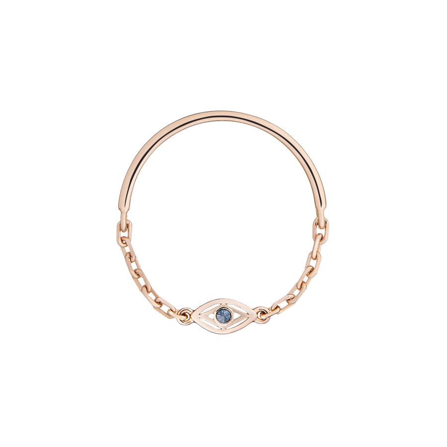 EYE OF MAGIC CHAIN RING BLUE DIAMOND