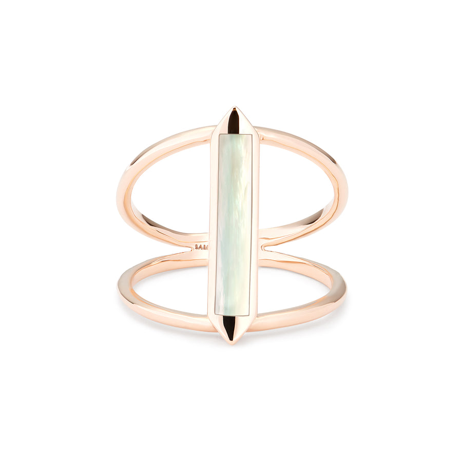 ISLA RING WHITE MOTHER OF PEARL