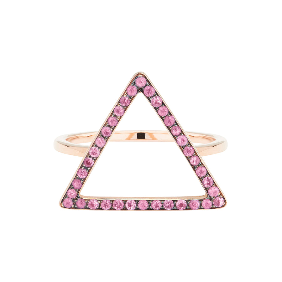 LOVE TRIANGLE RING PINK SAPPHIRES