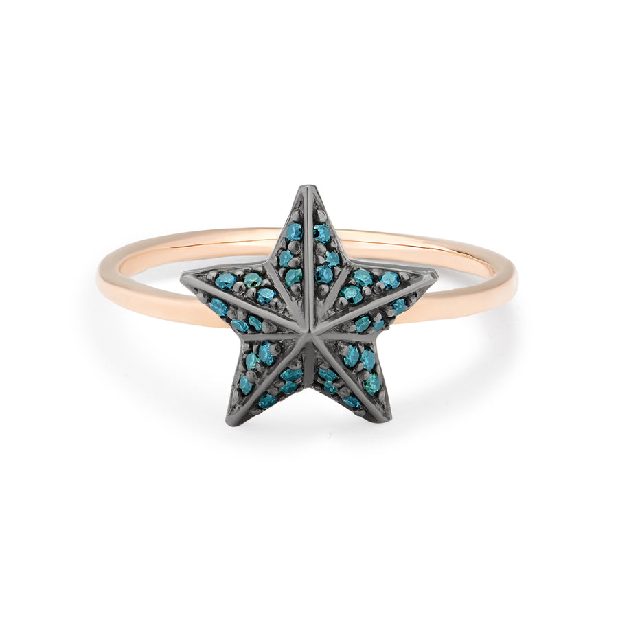 NIMA STAR RING BLUE DIAMONDS
