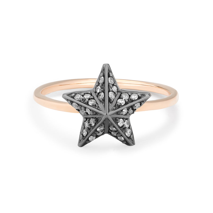 NIMA STAR RING GREY DIAMONDS