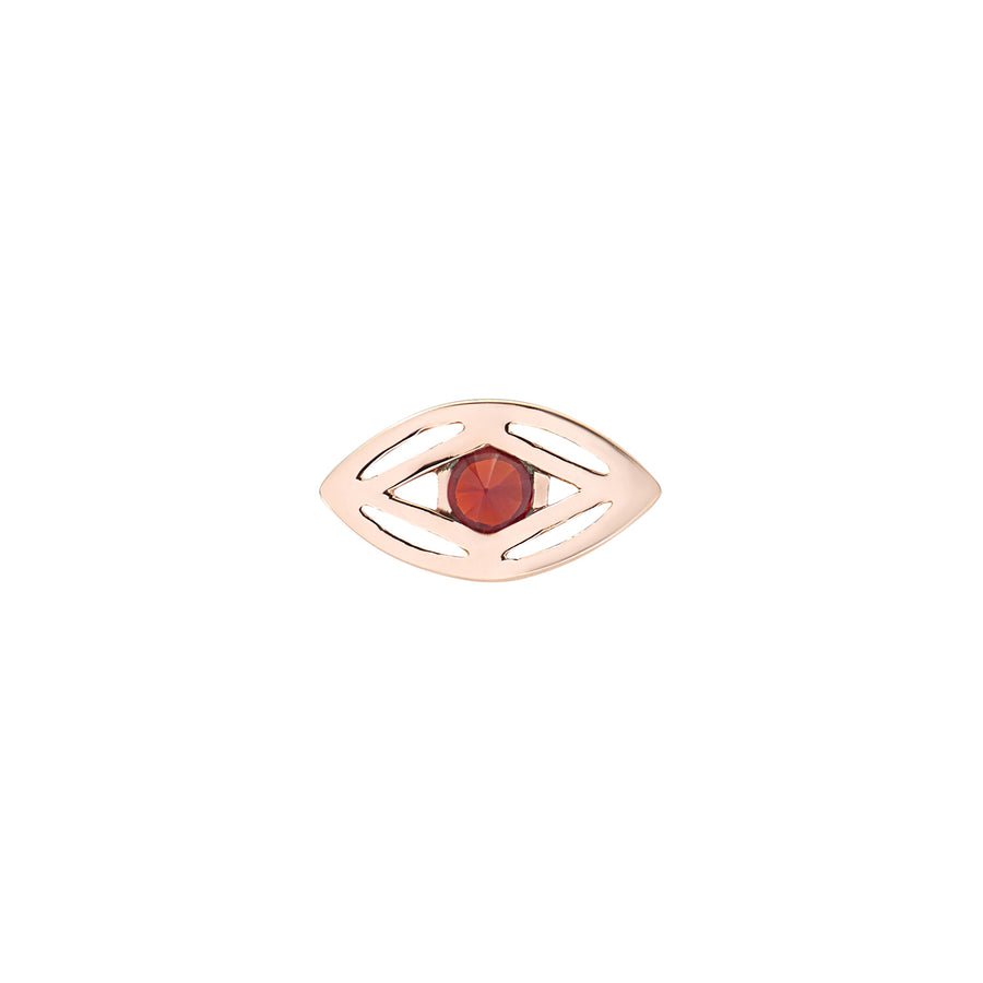EYE OF MAGIC STUD RED GARNET