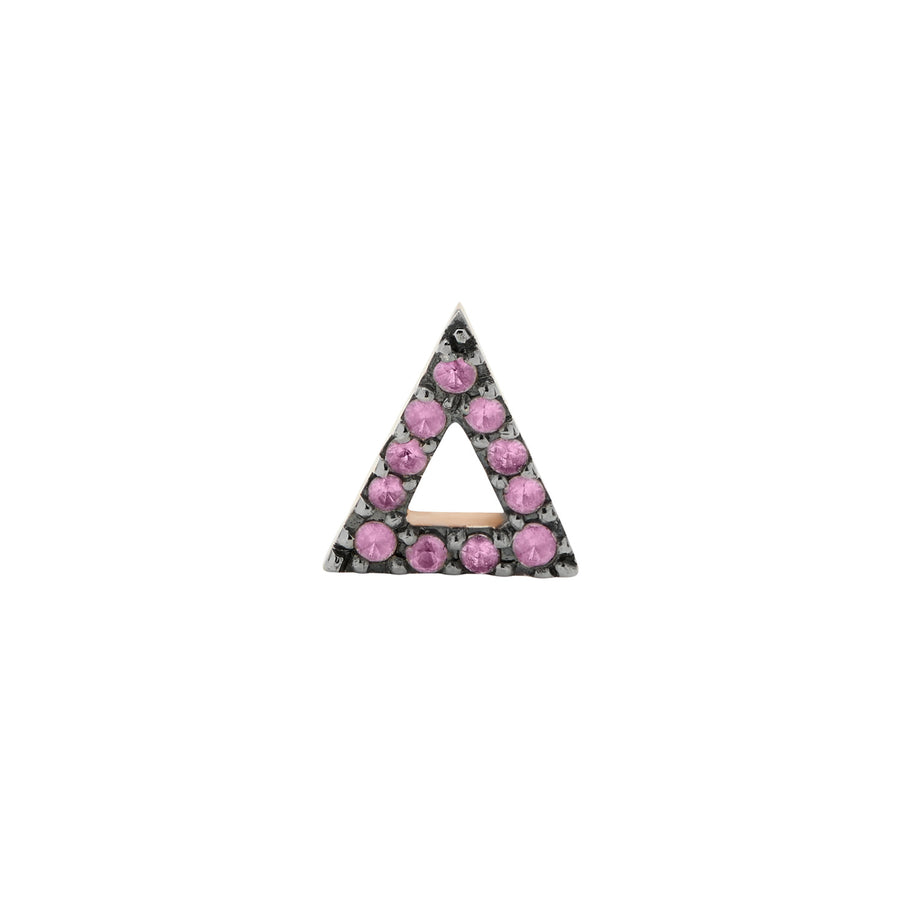 LOVE TRIANGLE STUD PINK SAPPHIRES