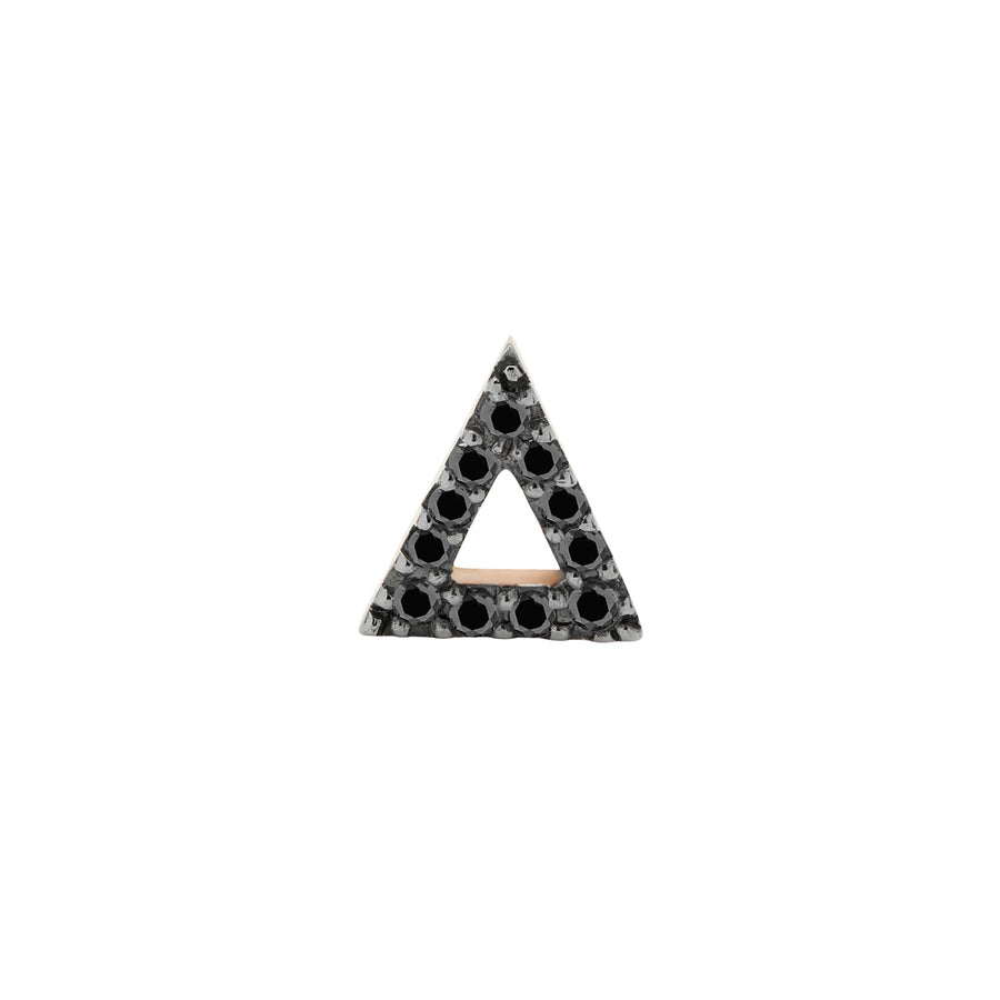 LOVE TRIANGLE STUD BLACK DIAMONDS