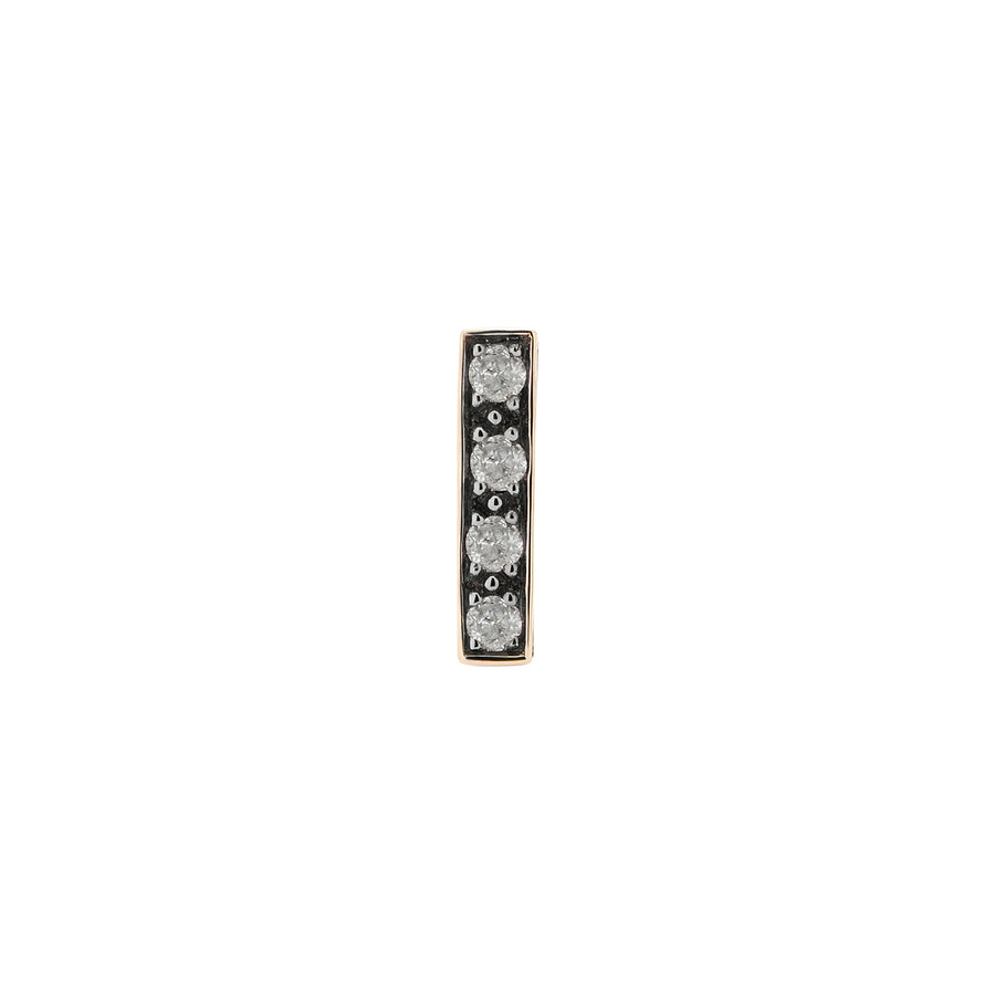 CANDY BAR STUD GREY DIAMONDS