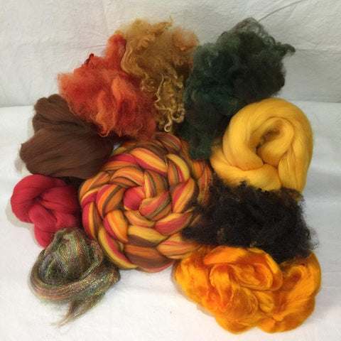 Napa Valley Fiber Spinning Fiber Club Kit November 2017 Autumns Paintbrush