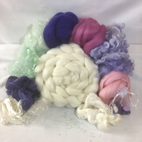 June 2018 Fiber Club Kit to have and to hold spinning kit