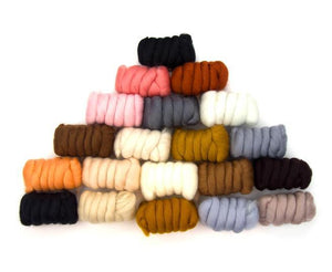 Napa Valley Fibers All Creatures Great & Small Merino Mixed Bag Dyed Fiber