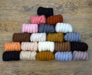 Napa Valley Fibers All Creatures Great & Small Merino Mixed Bag ~ New! Dyed Fiber