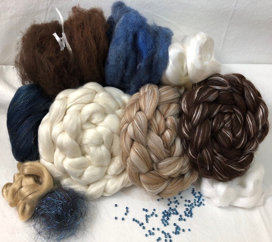 'Bare Necessities!' ~ Make Mine Blue! ~ Luxury Triple Braid Spinning Kit