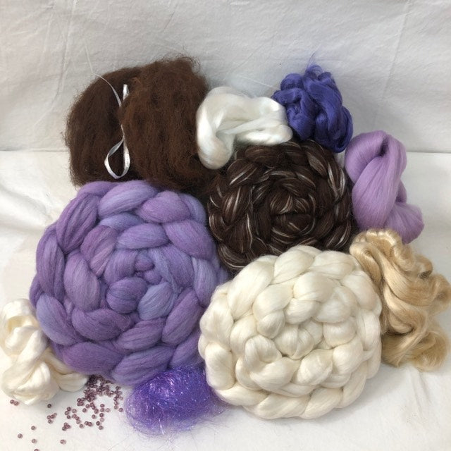 'Bare Necessities!' ~ Gone Purple! ~ Luxury Triple Braid Spinning Kit