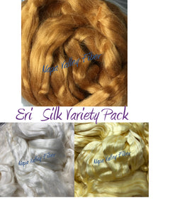 Complete Eri Silk Variety Pack ~ Luxury Spinning Fiber ~ Pure Decadence!