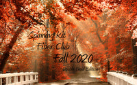Fiber Club DOUBLE BRAID ~ Fall 2020 Edition Spinning Club Kits ~ Sept, Oct, Nov 2020