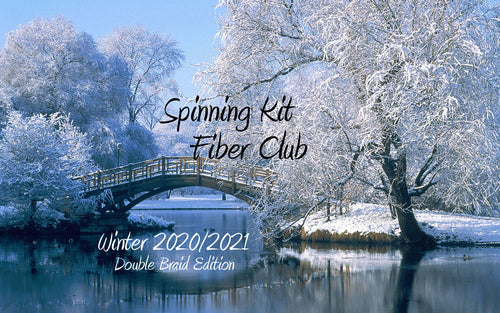 Fiber Club DOUBLE BRAID ~ Winter 2020/2021 Edition Spinning Club Kits ~ Dec 2020, Jan, Feb 2021