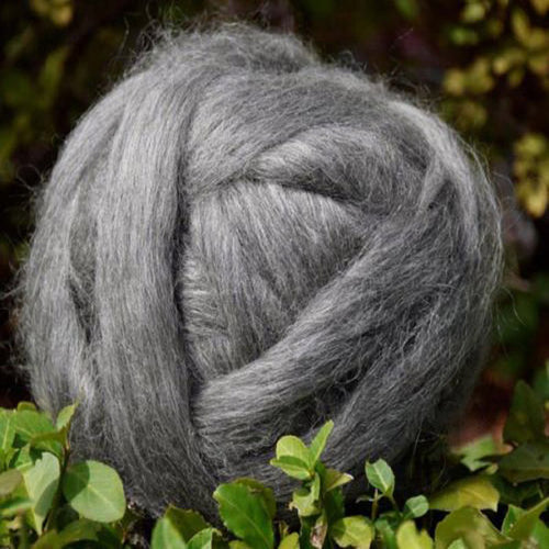 Grey Gotland Wool Top ~ Natural Spinning Fiber / 4 oz