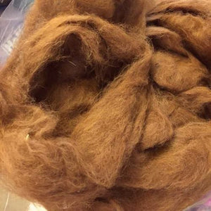 Llama Roving ~ Reddish Brown ~ Natural Spinning Fiber / 1 oz
