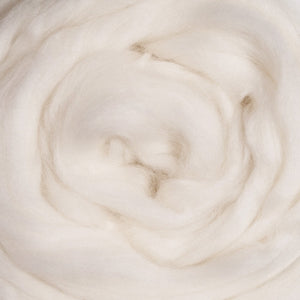 Superfine Merino Natural White Wool Top, 19 Micron ~ Natural Spinning Fiber / (8 oz bag)