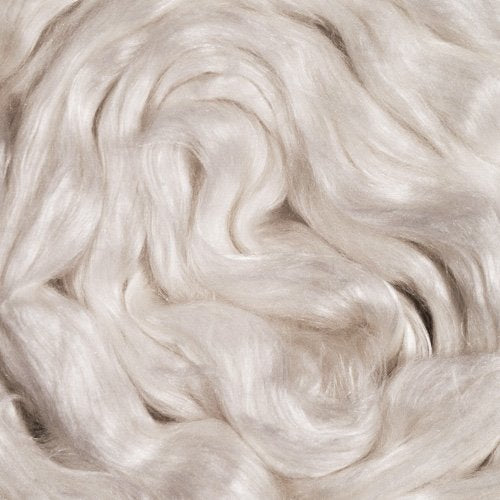 Merino Wool /Cultivated Silk Top, 50/50 ~ Natural Spinning Fiber / 1 oz