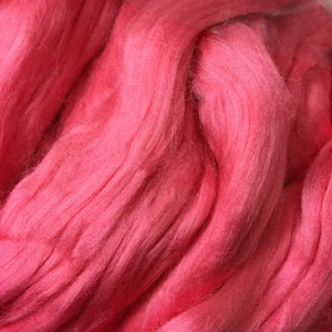 Bamboo Top Dyed Spinning Fiber ~ Pink / 2 oz