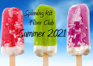 Fiber Club Summer 2021 Edition Spinning Club Kits ~ June, July & August 2021