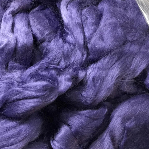 Bamboo Top Dyed Spinning Fiber ~ Violet / 2 oz