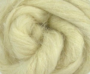 White Welsh Wool Top ~ Natural Spinning Fiber / 4 oz ~