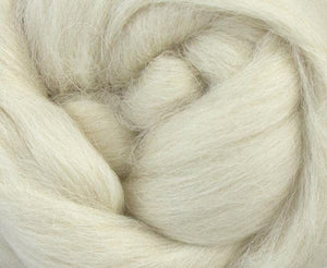 White De-Haired Llama Top ~ Luxury Spinning Fiber / 2 oz