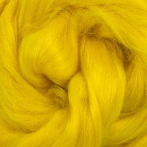 Bamboo Top Dyed Spinning Fiber ~ Yellow / 2 oz