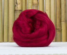 Bamboo Top Dyed Spinning Fiber ~ Red / 2 Oz