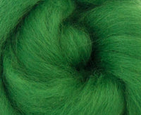 Blue Faced Leicester Dyed Wool Top Grass 4 oz