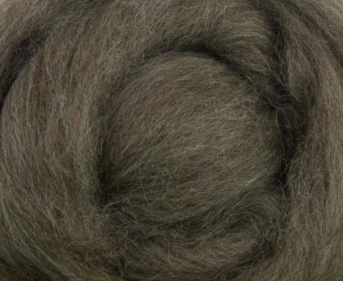 Blue Faced Leicester Natural Brown Wool Top 4 Oz Dyed Fiber