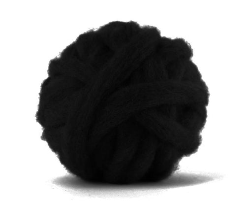 Carded Corriedale Sliver Dyed Wool Raven ~ 4 Oz Fiber