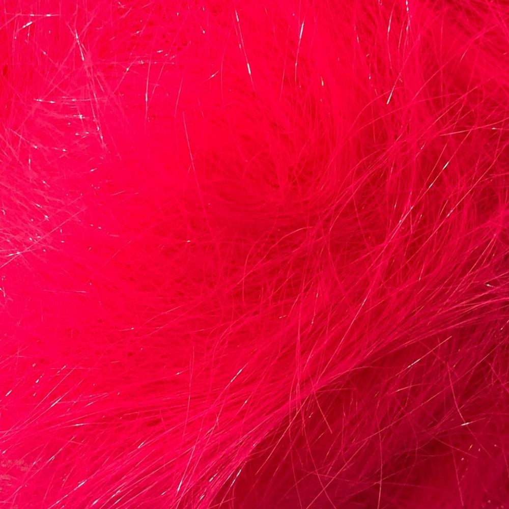 Electric Pink Angelina Sparkling Blending Fiber 1/2 Oz Dyed