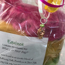 Equinox! Luxury Spinning Kit ~ Exotic Fibers Stitch Marker Included