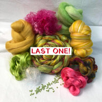 'Equinox!' Luxury Spinning Kit ~ Exotic Fibers ~ Stitch Marker Included