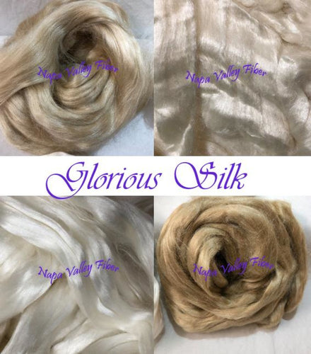 Glorious Silk Variety Pack Premier Spinning Fiber Pure Elegance! Luxury