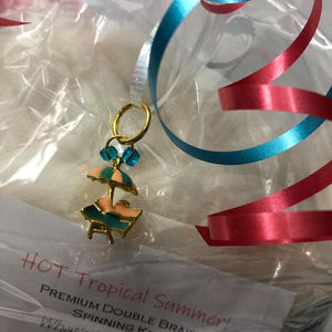 Hot Tropical Summer! #2 ~ Double Braid Premium Spinning Kit Darling Enamel Stitch Marker Included!