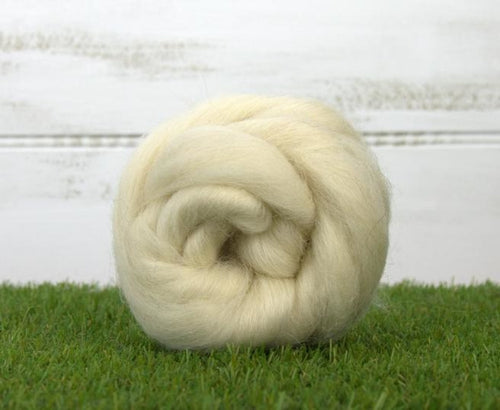 Icelandic Wool ~ Natural White Top 4 Oz Dyed Fiber