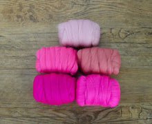 Napa Valley Fibers Posh Pink Merino Mixed Bag Dyed Fiber